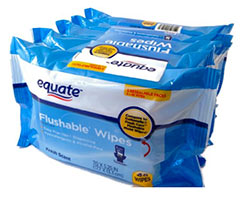 Equate Flushable Wipes