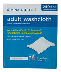 Simply Right Adult Washcloths